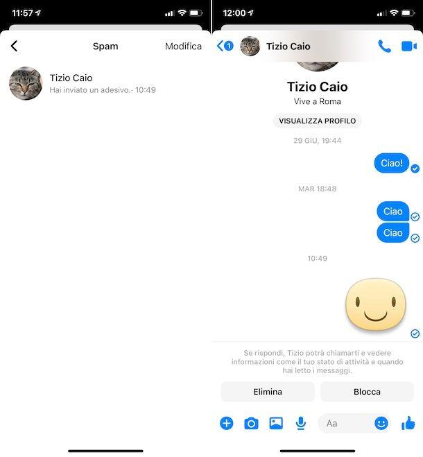 Spam Messenger iOS