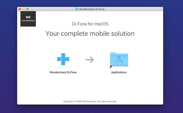 Installazione Wondershare Dr.Fone su Mac