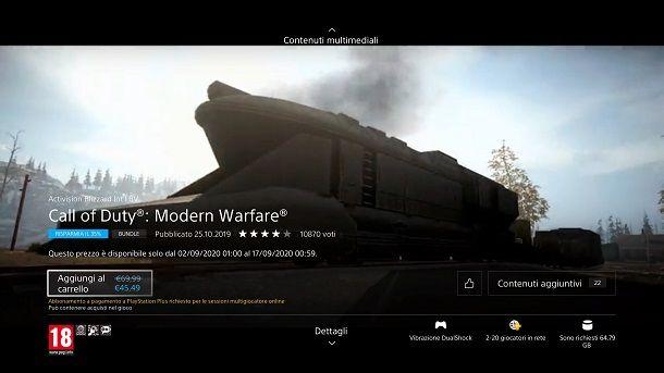 Aggiungi al carrello COD Modern Warfare PS4