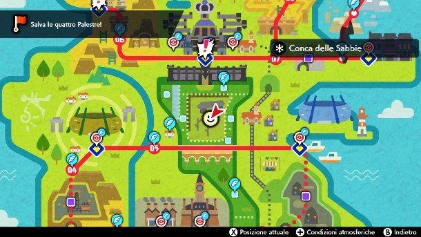 La posizione della Conca delle Sabbie in Pokemon Spada e Scudo