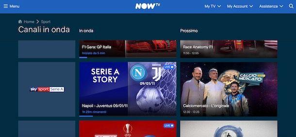 Vedere la Serie A su NOW TV