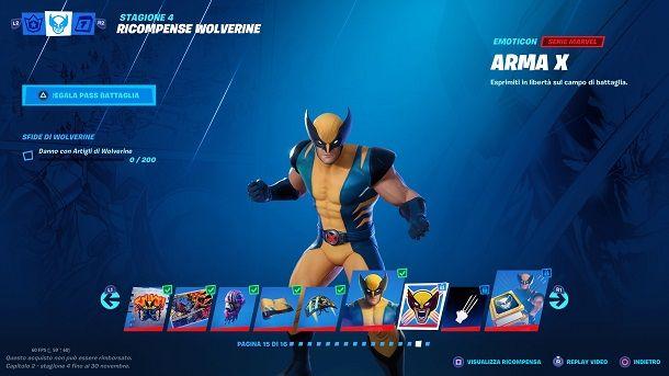Sfida extra 2 Wolverine Fortnite