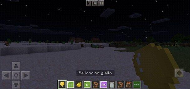 Palloncino giallo Minecraft