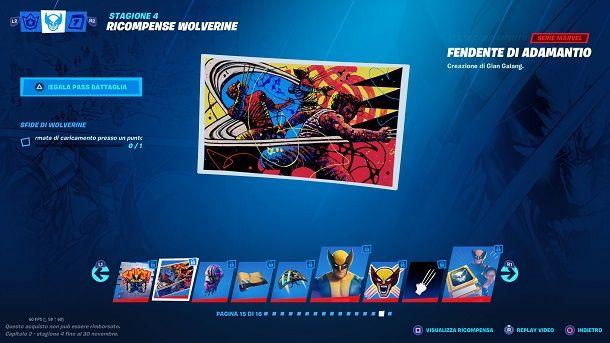 Schermata di caricamento Wolverine Fortnite