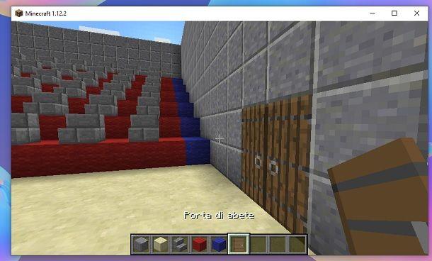 Porte uscita cinema Minecraft