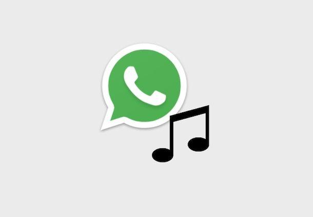 Icona WhatsApp e nota musicale