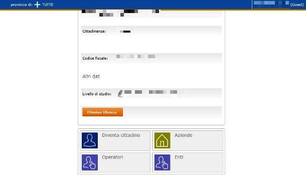 Attivare account Cittadino su ANPAL