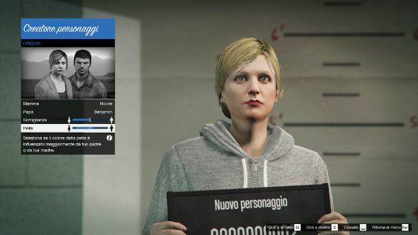 Personalizzazione avatar GTA Online
