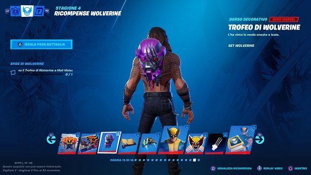 Trovare trofeo Wolverine Fortnite