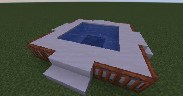 Vasca idromassaggio su Minecraft