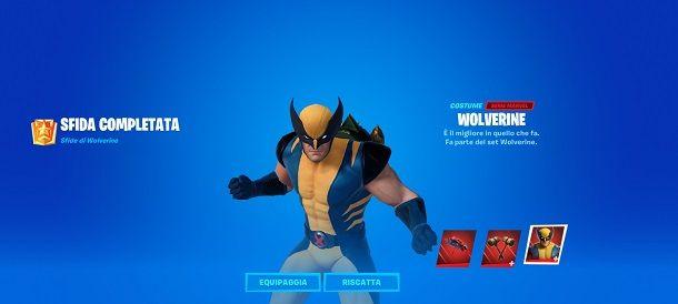 Sfida completata Wolverine Fortnite