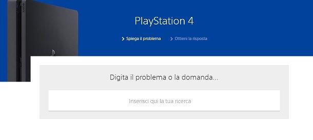 Contattare Sony