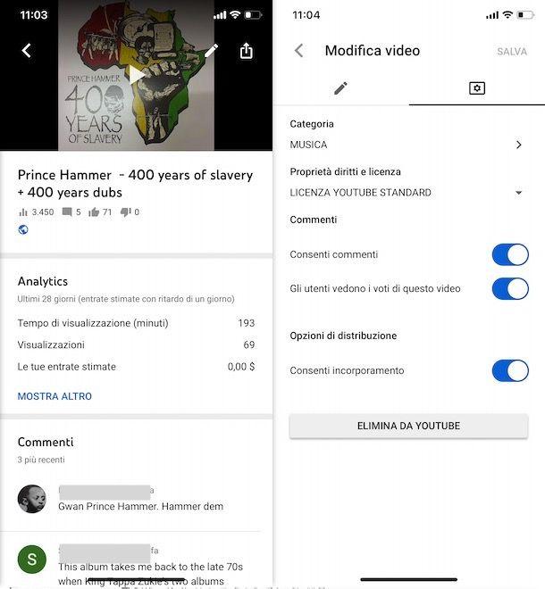 Disattivare commenti YouTube da smartphone e tablet