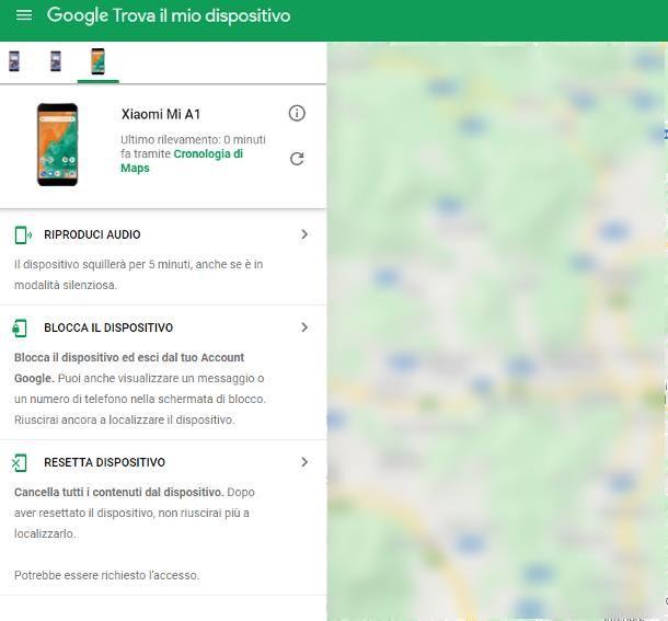 Attivare localizzazione Google da remoto