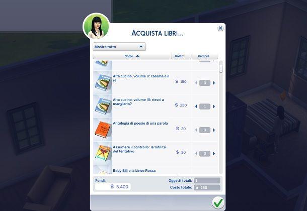 Acquistare libri su The Sims 4