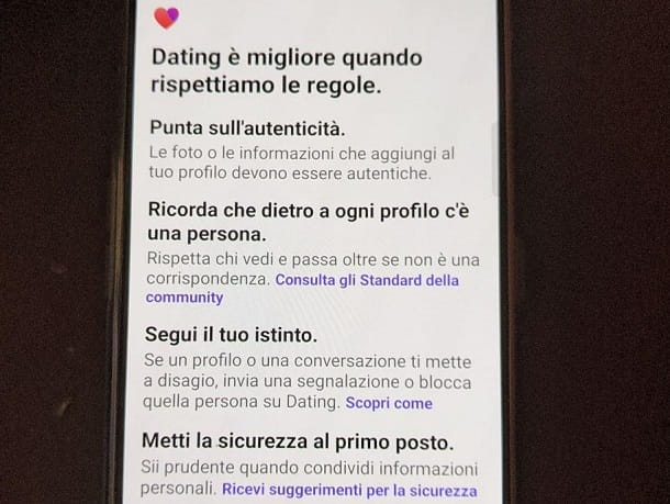 Regole Facebook Dating