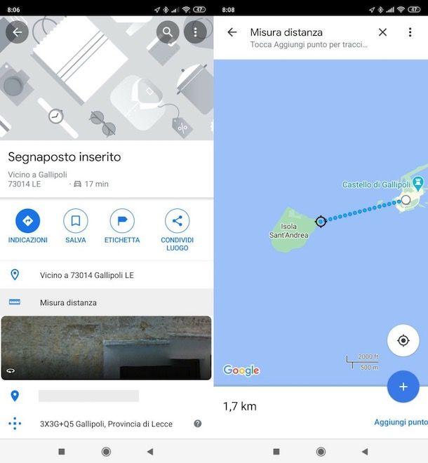 Come misurare a distanza su Google Maps da smartphone e tablet