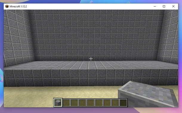 Scalino interno Cinema Minecraft
