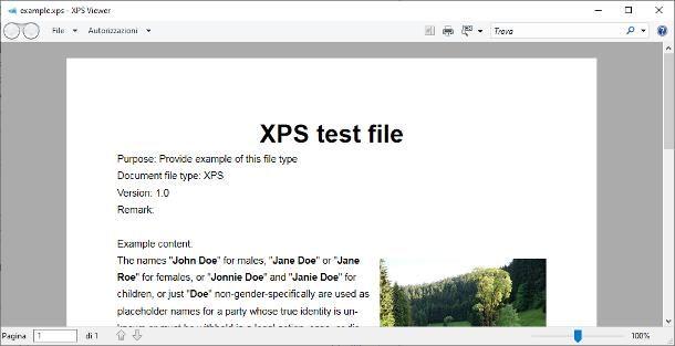 Come aprire file .XPS