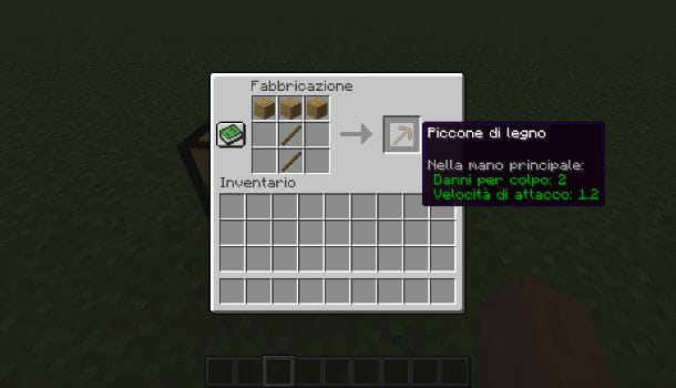 Come fare il piccone di legno su Minecraft