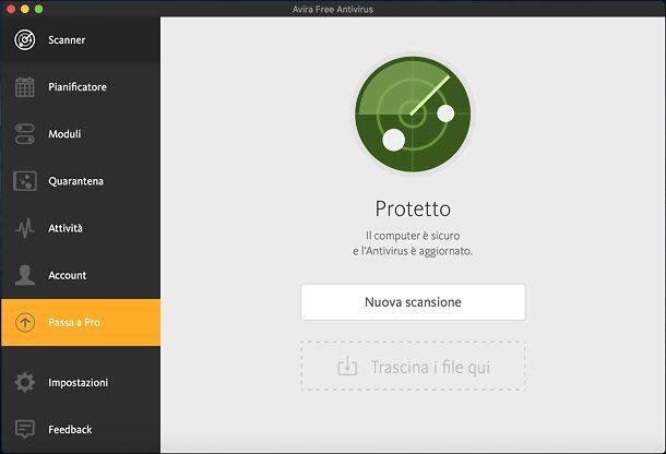 Avira Free Security per Mac