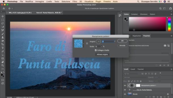 Pattern su una scritta in Photoshop