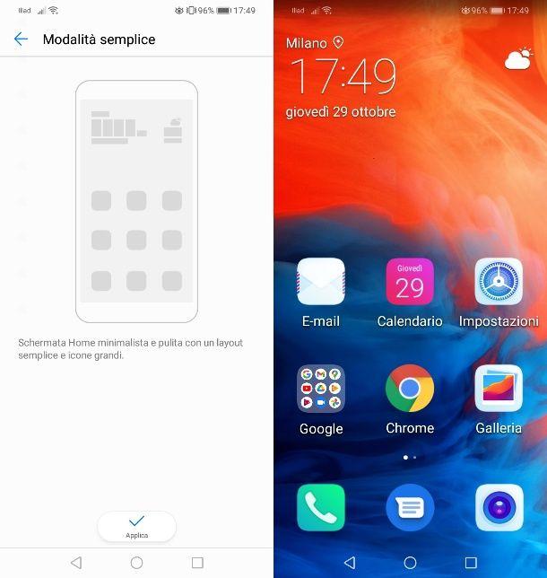 Modalità semplice Huawei