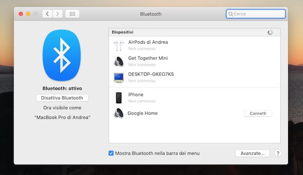 Collegare Google Home a Mac