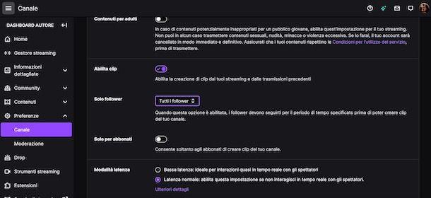 Attivare modalità Solo follower su Twitch