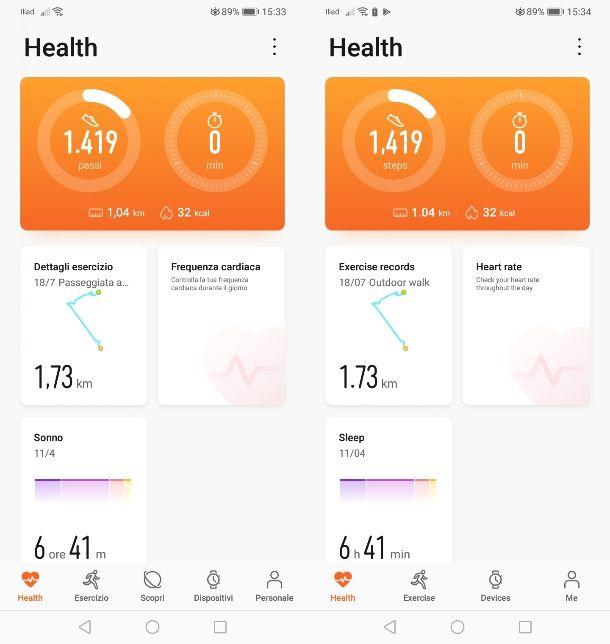 Come cambiare lingua Huawei Health