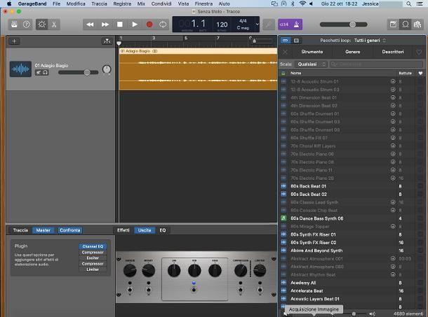 Come modificare una canzone con GarageBand