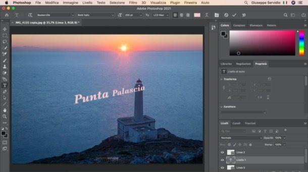 Scrivere su un tracciato con Photoshop