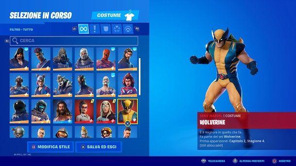 Come impostare la skin di Wolverine su Fortnite