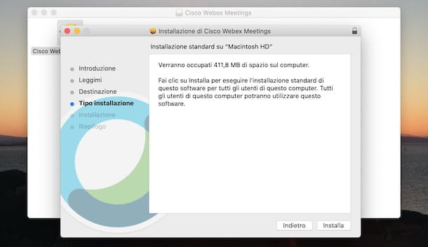 Installare Cisco Webex su Mac