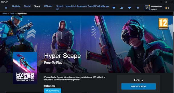 Scaricare Hyper Scape sul computer