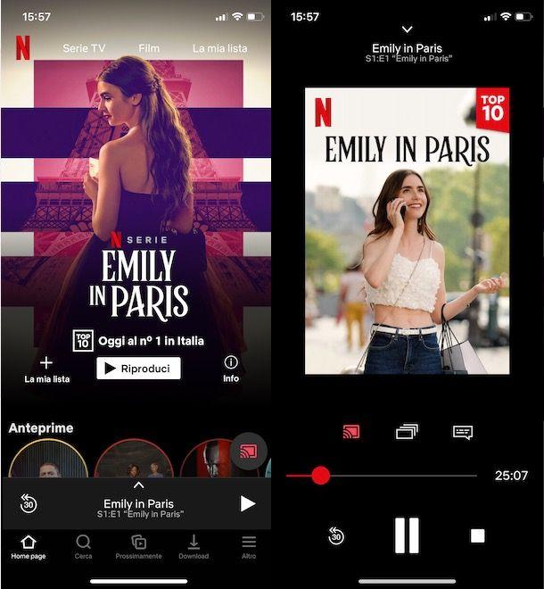 Controllare la riproduzione di Netflix su Chromecast