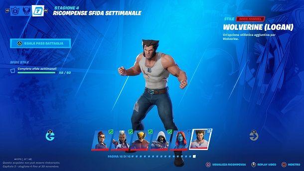 Come sbloccare Wolverine Logan su Fortnite
