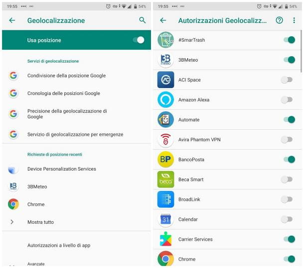 Come attivare localizzazione su Android