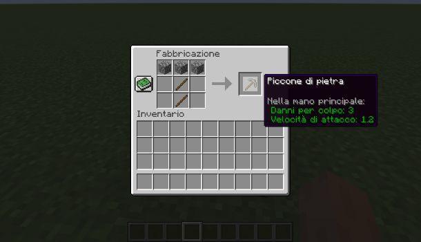 Come fare un piccone di pietra su Minecraft