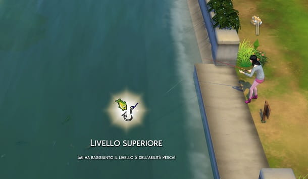Salire di livello Pesca The Sims 4