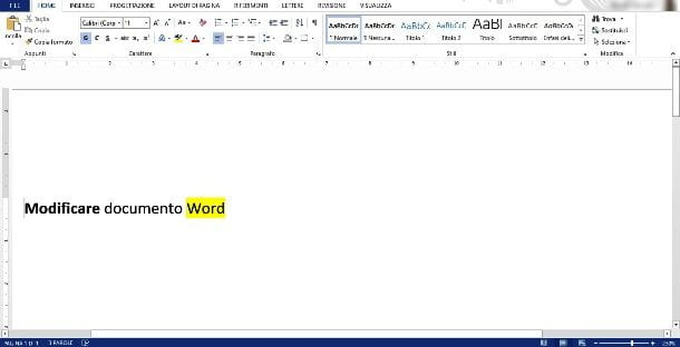 Modificare documento Word