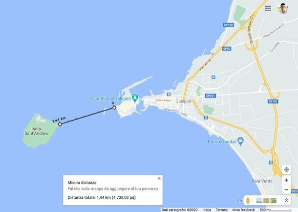 Come misurare a distanza su Google Maps da computer