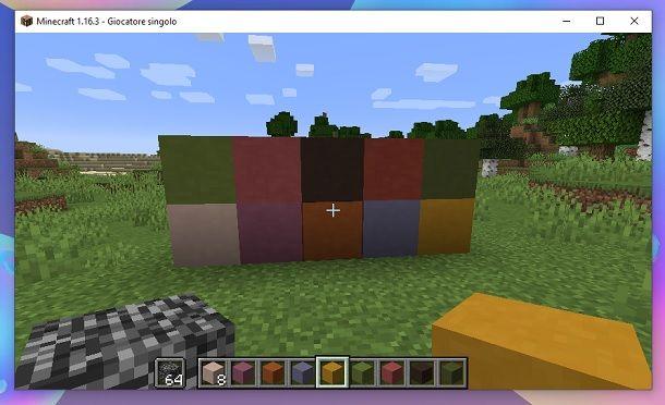 Come colorare la Terracotta su Minecraft