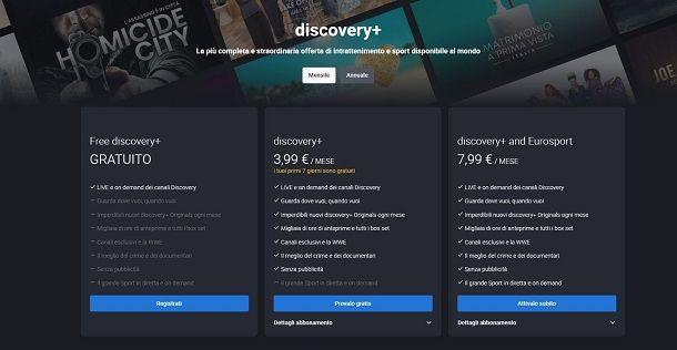 Discovery plus abbonamento