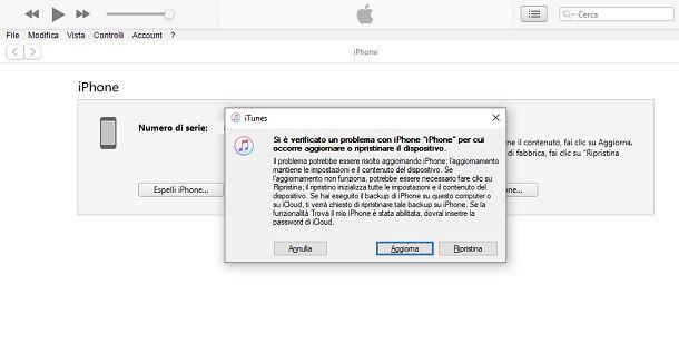 Ripristina iOS PC iTunes