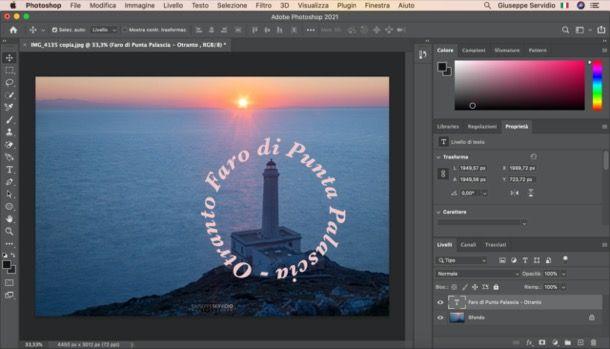 Scrivere a cerchio su Photoshop