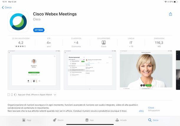 Scaricare Cisco Webex su iPad