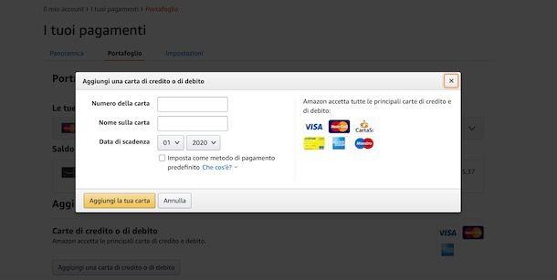 Pagamento su Amazon con Maestro