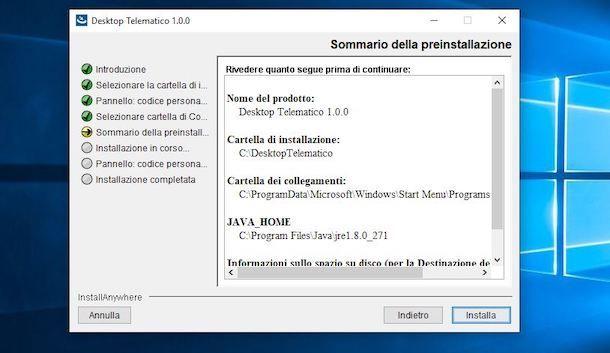 Installare Desktop Telematico su Windows