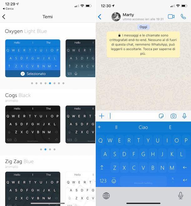 Tastiera SwiftKey iOS